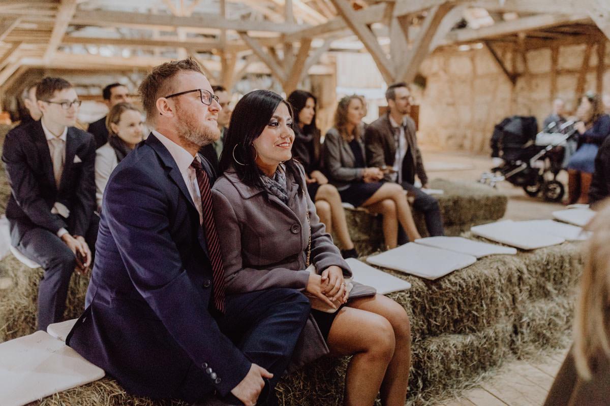 Vintage Scheunen Hochzeit Zeremonie Trauung