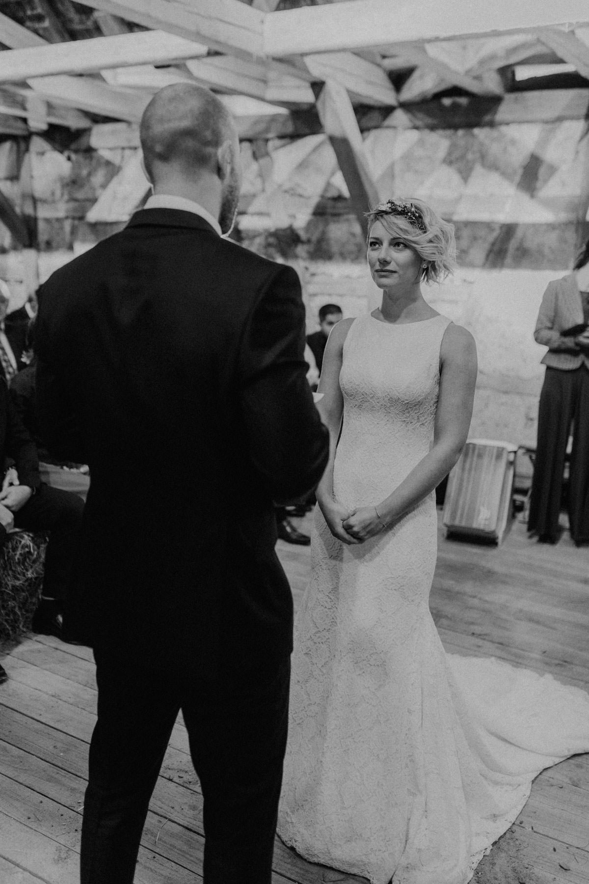 Vintage barn wedding ceremony wedding ceremony