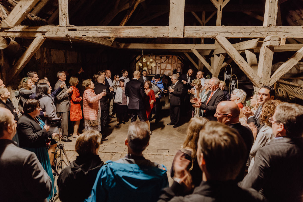 Vintage barns wedding Swabian Alb wedding dance dance party