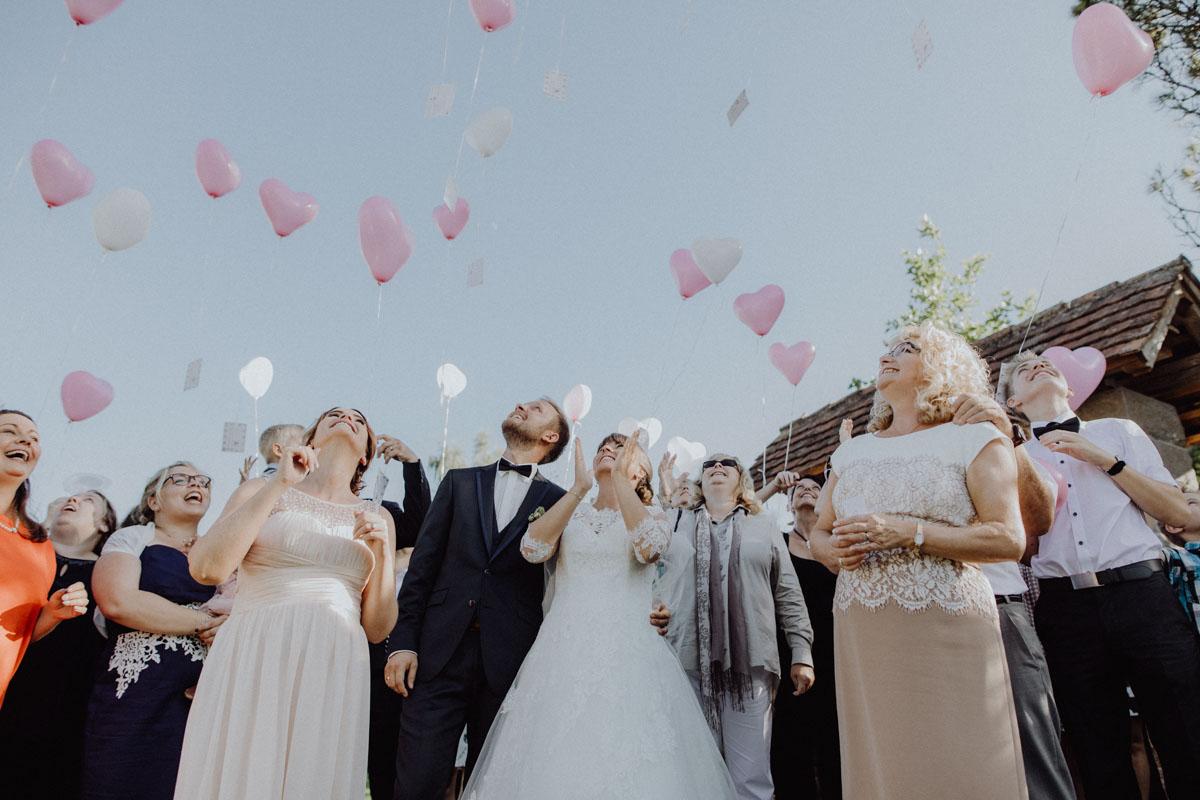 Hochzeitsfotograf Bayern Balonsteigen