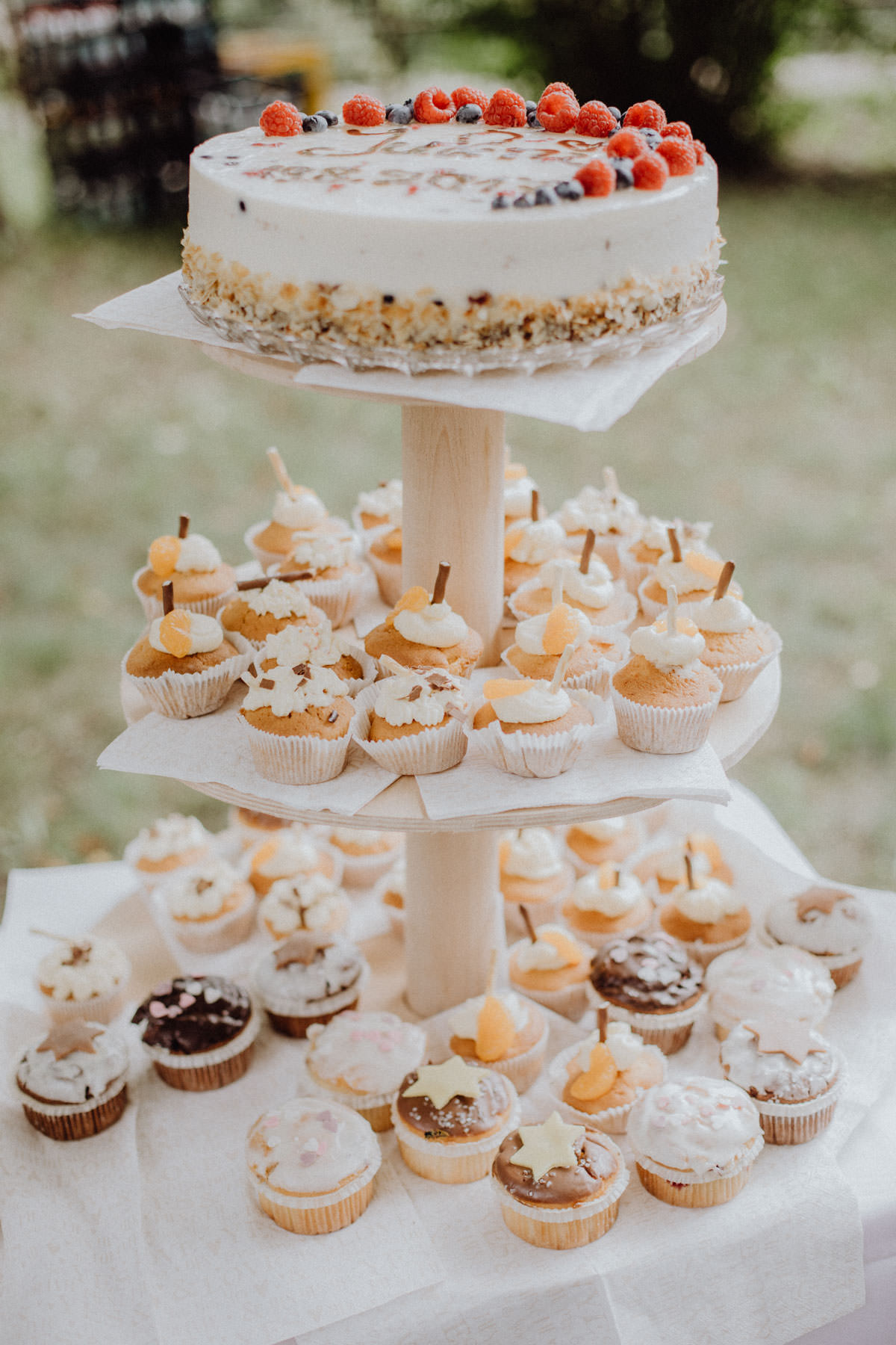 Wedding Cake and muffins