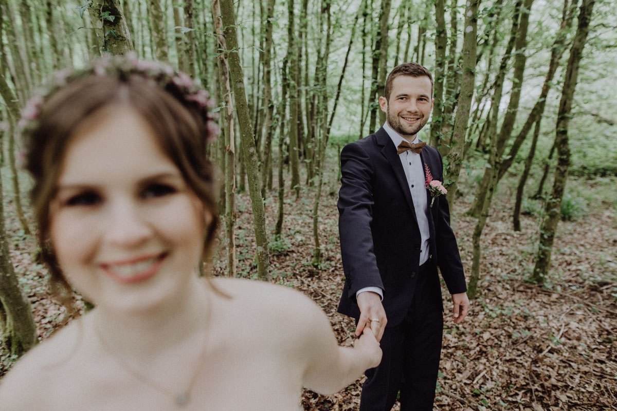 Vintage Wedding Photo Forest