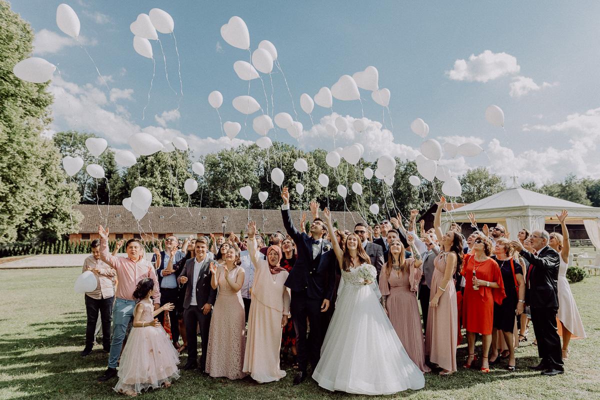 Ballonsteigen Hochzeit