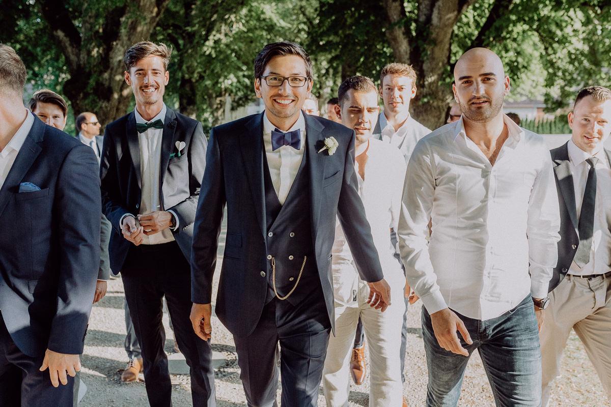 Bräutigam Best Men Gruppenfoto